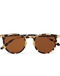 Garrett Leight California Optical Ocean 46 Round Frame Tortoiseshell Acetate Sunglasses