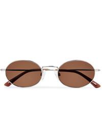 Sun Buddies Oval Frame Silver Tone Sunglasses