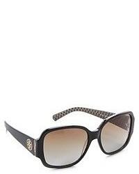 Tory Burch Polarized Logo Sunglasses