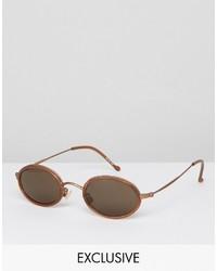 Reclaimed Vintage Round Sunglasses In Tortoiseshell