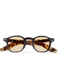 Jacques Marie Mage Zepherin Havana Round Frame Tortoiseshell Acetate Sunglasses