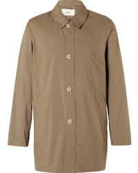 Folk Cotton Blend Raincoat