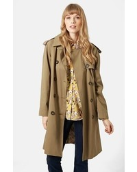 Topshop Scout Double Breasted Trench Coat