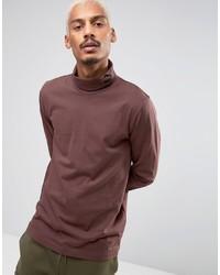 Puma Longsleeved Turtleneck T Shirt In Brown 57444002