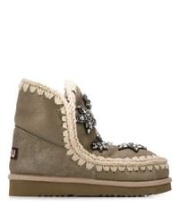 Mou Woven Detail Star Boots