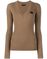 Brown V-neck Sweater