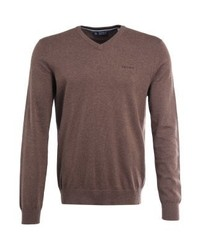 Esprit Basic V Neck Jumper Brown
