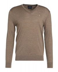 Ralph Lauren Slim Fit Jumper Honey Brown Heather