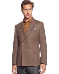 Brown Vertical Striped Blazer
