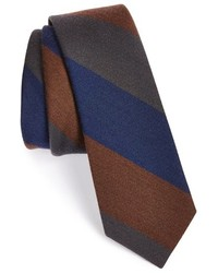 The Tie Bar Wool Silk Stripe Tie