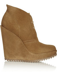 Brown wedge ankle boots original 9441799