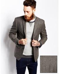 Asos Brand Slim Fit Tweed Blazer