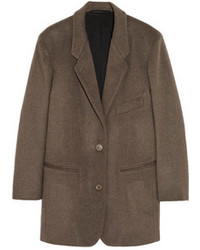 Brushed wool and cashmere blend jacket medium 100458