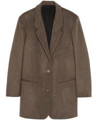 Brushed wool and cashmere blend jacket medium 100458