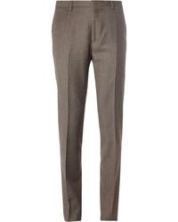 Brown Wool Dress Pants