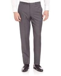 Armani Collezioni Basic Textured Wool Trousers