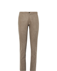 Incotex Slim Fit Brushed Wool Twill Trousers