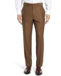 JB Britches Torino Flat Front Solid Wool Trousers