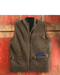 Brown Wool Gilet
