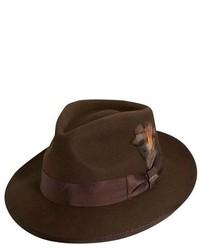 Classico wool felt snap brim hat brown medium 135217
