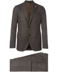 Lardini Lapel Detail Formal Suit