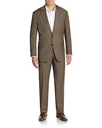Lauren Ralph Lauren Regular Fit Sharkskin Wool Suit