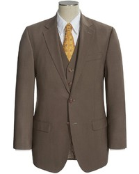 Brown Wool Three Piece Suit