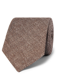 Kingsman Drakes 8cm Mlange Linen And Silk Blend Tie