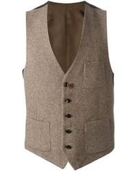 Brown Wool Waistcoat
