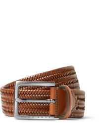 35cm brown semyo woven leather belt medium 1194686