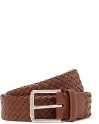 3cm brown woven leather belt medium 1245713