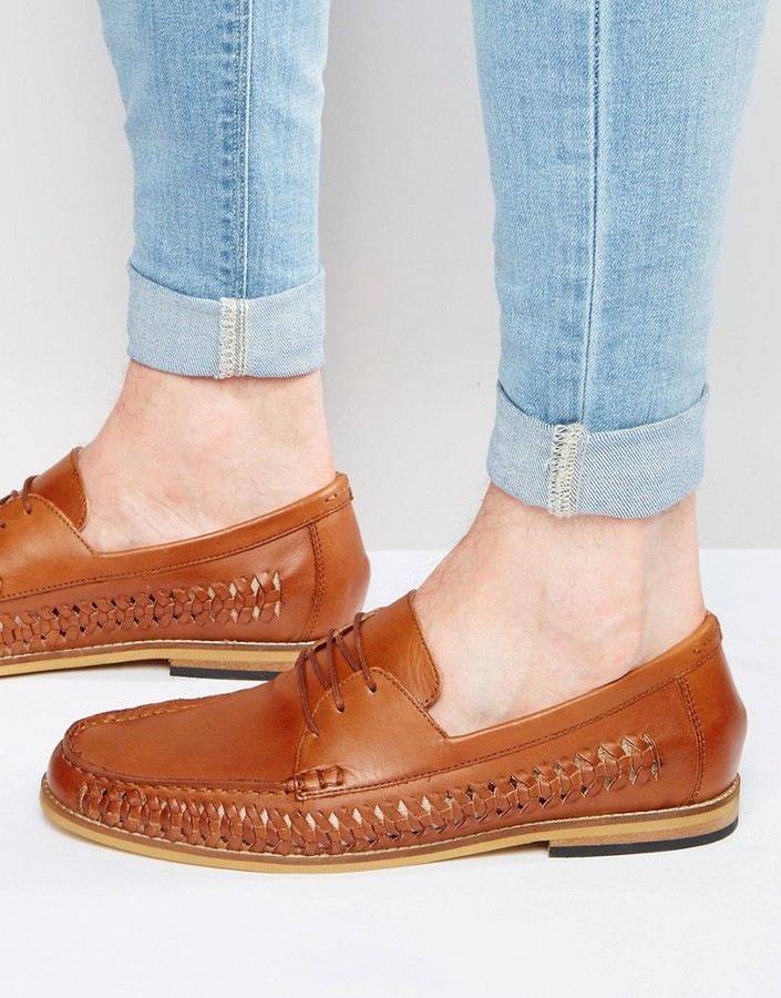 Frank Wright Woven Loafers In Leather IOWDqNYGj