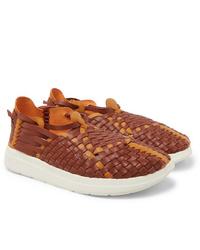 Malibu Latigo Woven Faux Leather Sandals