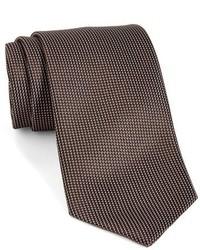 Ermenegildo Zegna Solid Woven Silk Tie