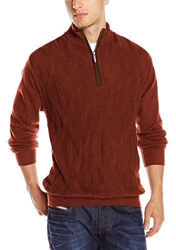 Alex Cannon Quarter Zip Cable Knit Sweater | Where to buy & how to ...