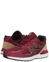 Burgundy Athletic Shoes