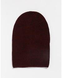 Brand slouchy beanie hat in burgundy medium 618645