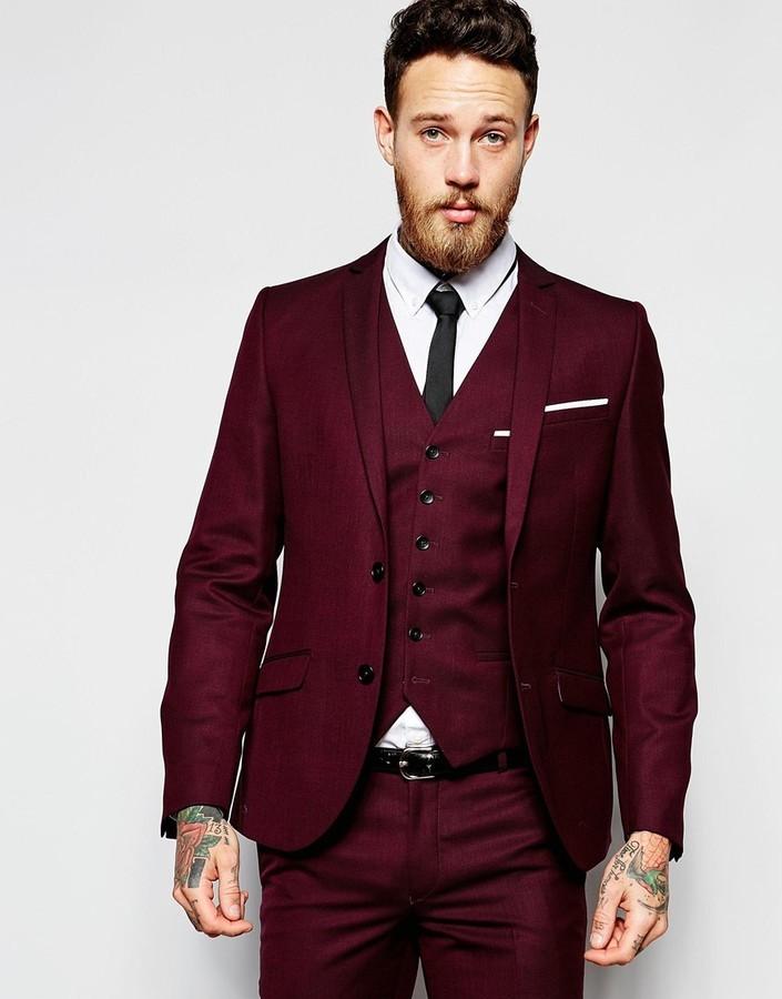 Heart Dagger Heart Dagger Suit Jacket In Birdseye Fabric In Super ...