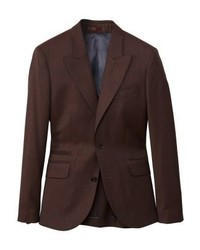 Mango Napoli Suit Jacket Maroon