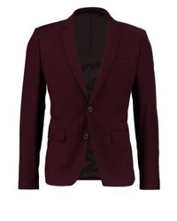 CASUAL FRIDAY Suit Jacket Burgundy Red