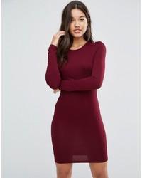 Asos Long Sleeve Body Conscious Mini Dress