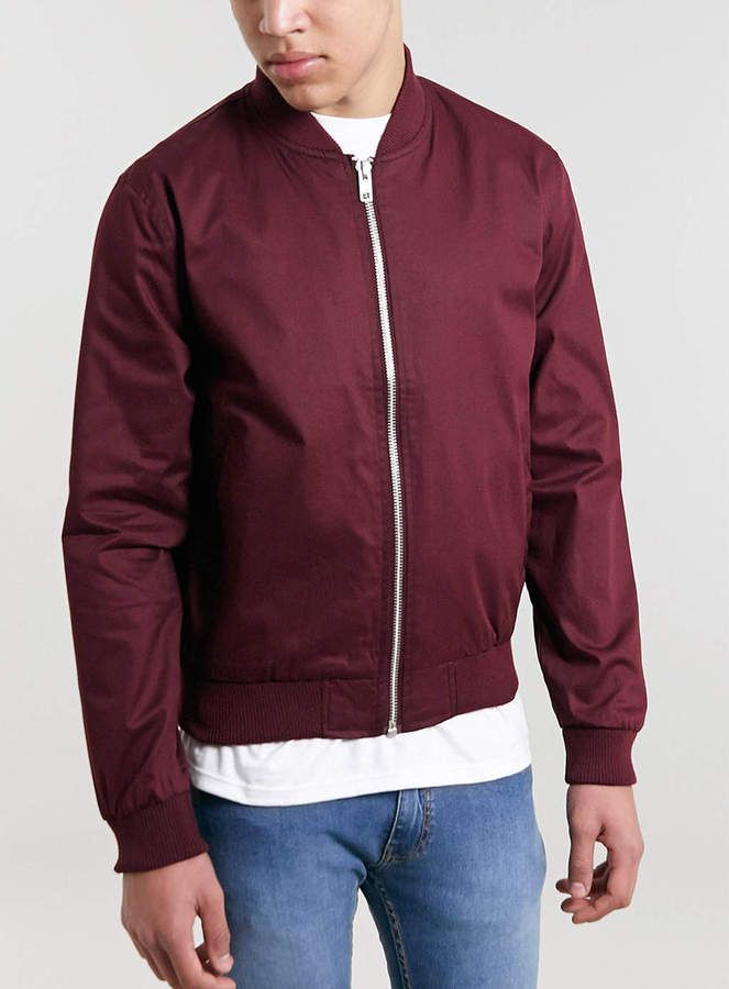 Topman Burgundy Bomber Jacket | Where to buy & how to wear