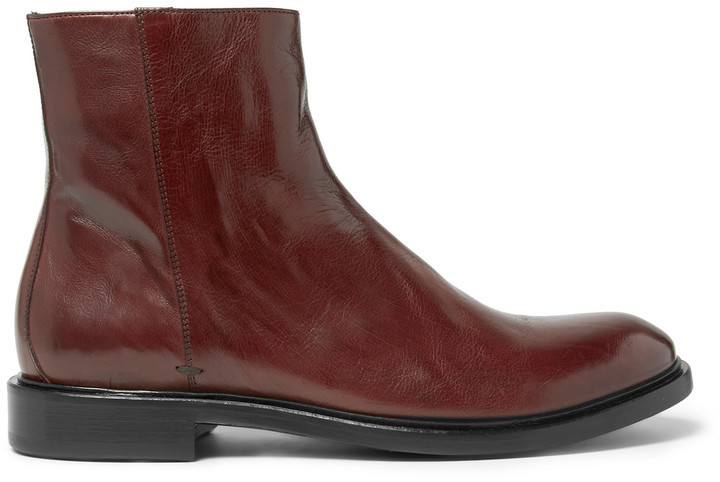 new arrivals ea740 e745c £576, Paul Smith Sullivan Polished Leather Boots