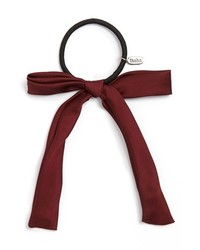 Tasha Bow Peep Ponytail Holder Burgundy
