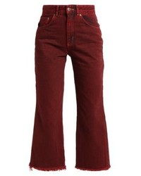 The Ragged Priest Clarat Relaxed Fit Jeans Burgundy