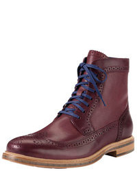 Burgundy brogue boots original 6703312