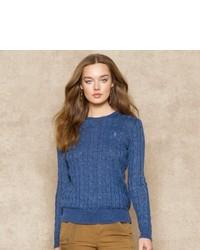 Ralph Lauren Blue Label Cable Knit Linen Sweater