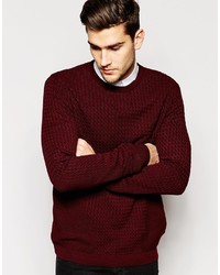 c3a73fbc785 Men's Burgundy Cable Sweaters by Asos | Men's Fashion | Lookastic UK