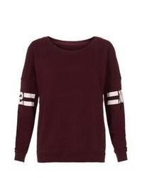 New Look Burgundy New York 82 Sweater