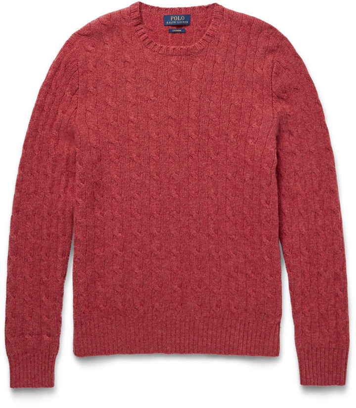 ... Burgundy Cable Sweaters Polo Ralph Lauren Cable Knit Cashmere Sweater  ...